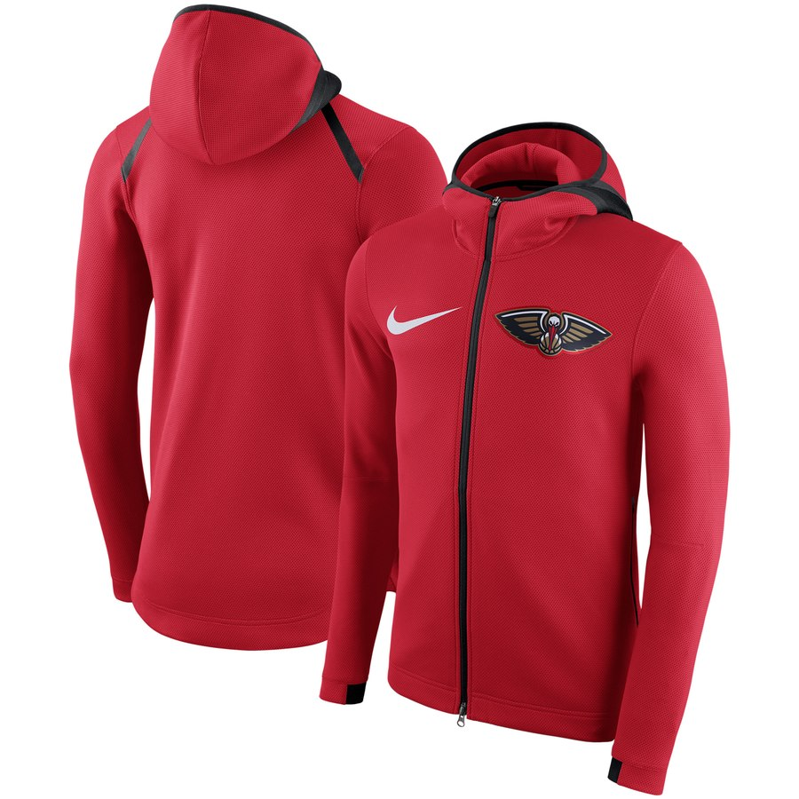 New Orleans Pelicans Nike Showtime Therma Flex Performance Full Zip Hoodie Red