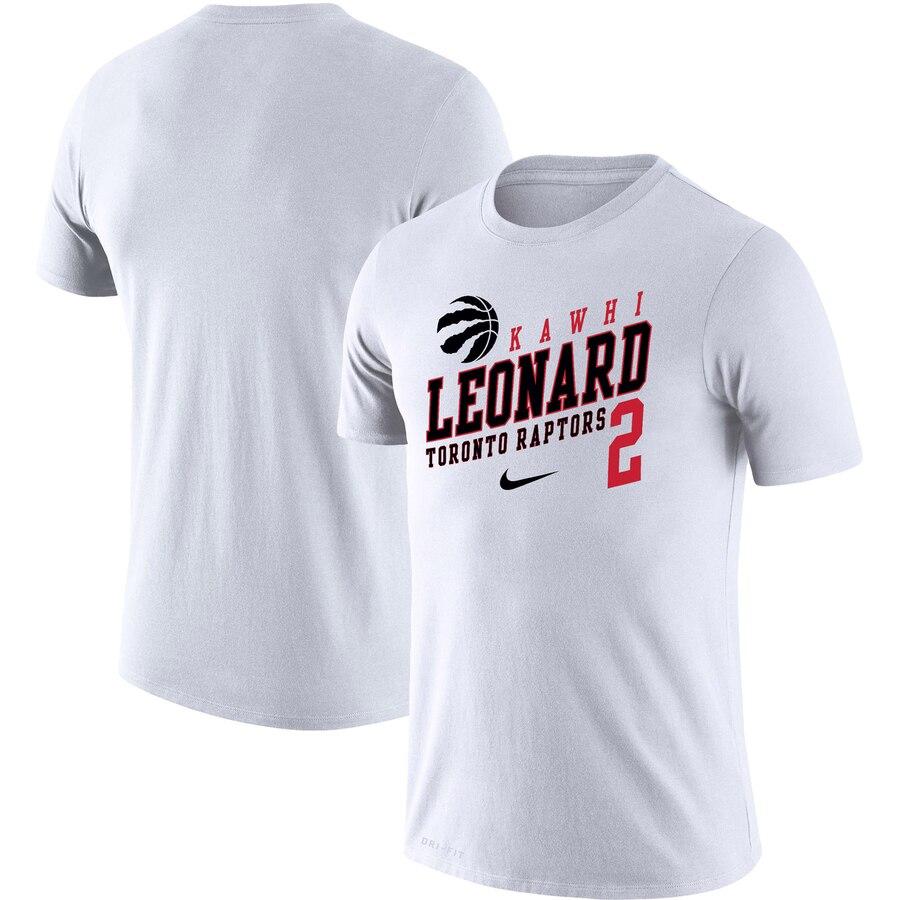 Kawhi Leonard Toronto Raptors Nike Player Performance T-Shirt White