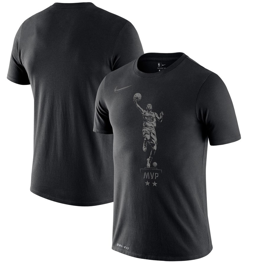 Stephen Curry Golden State Warriors Nike MVP Try Performance T-Shirt Black