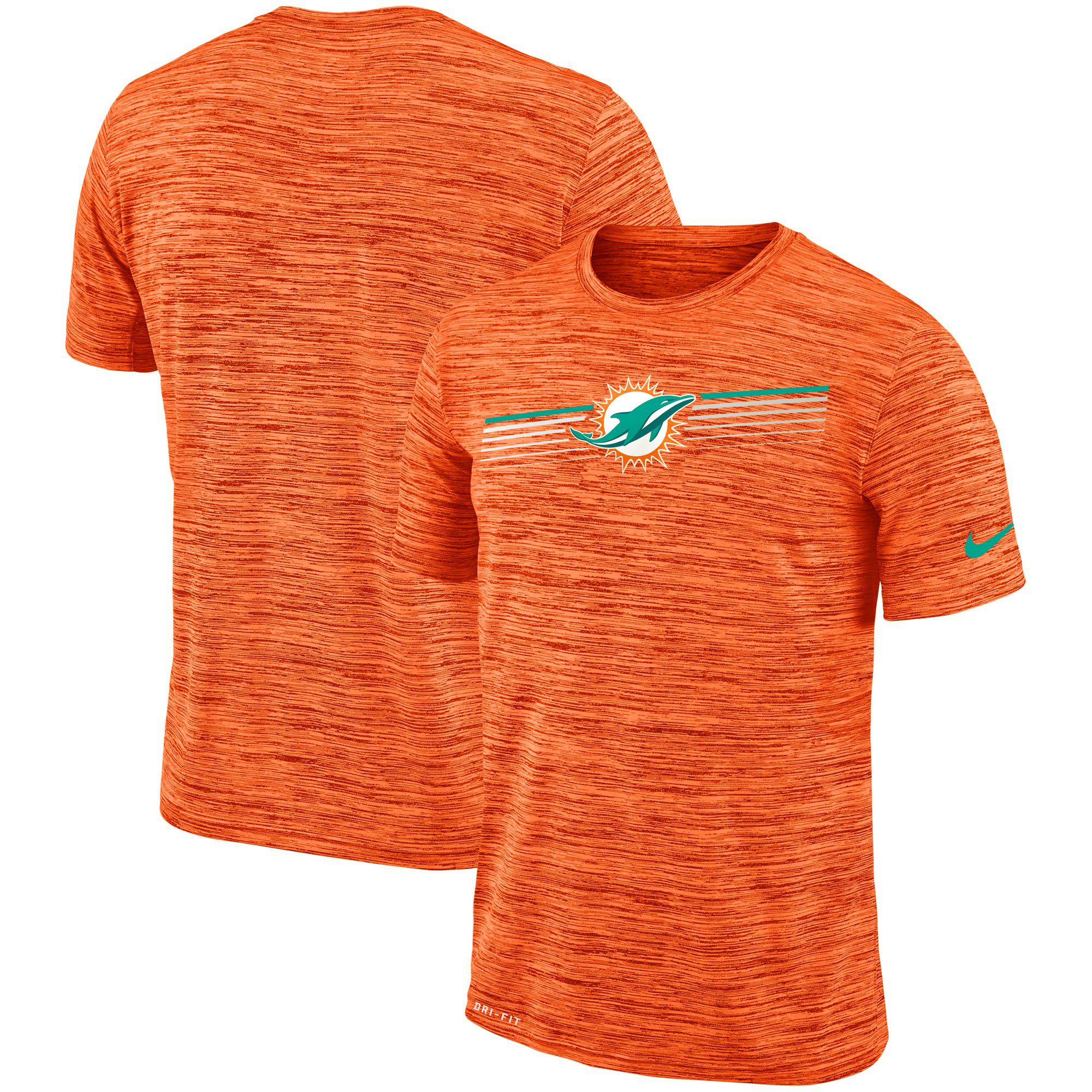 Miami Dolphins Nike Sideline Velocity Performance T-Shirt Heathered Orange