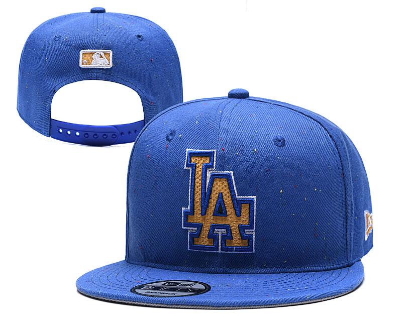 Dodgers Team Logo Blue Adjustable Hat TX