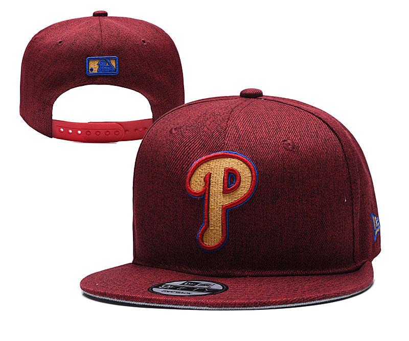 Phillies Team Logo Red Adjustable Hat TX