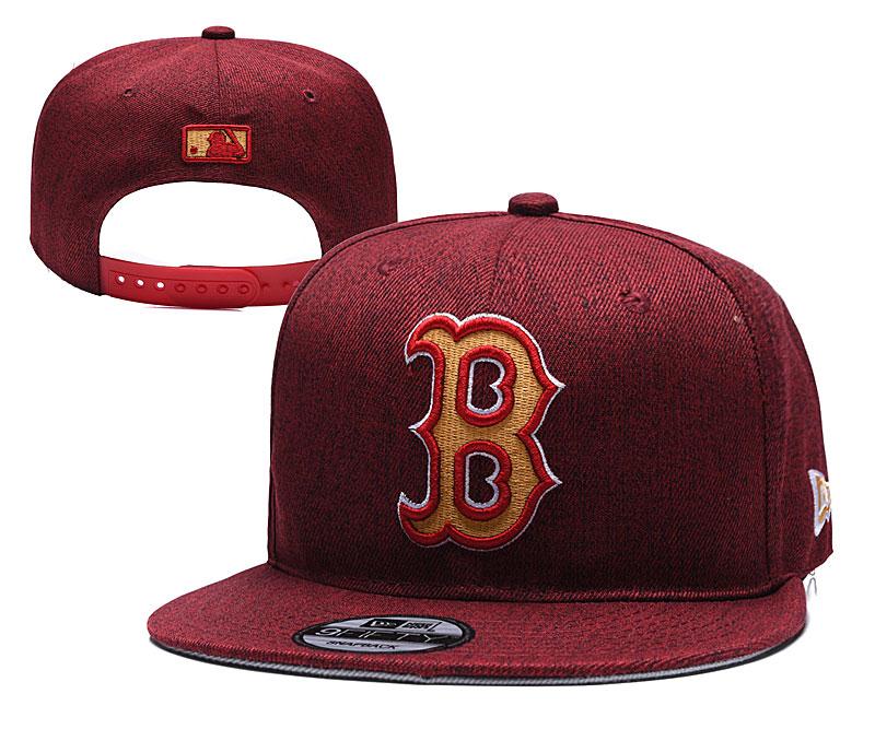 Red Sox Team Logo Red Adjustable Hat TX