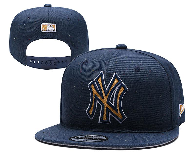 Yankees Team Logo Navy Adjustable Hat TX
