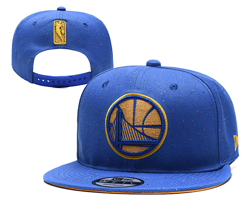 Warriors Team Logo Blue Adjustable Hat TX