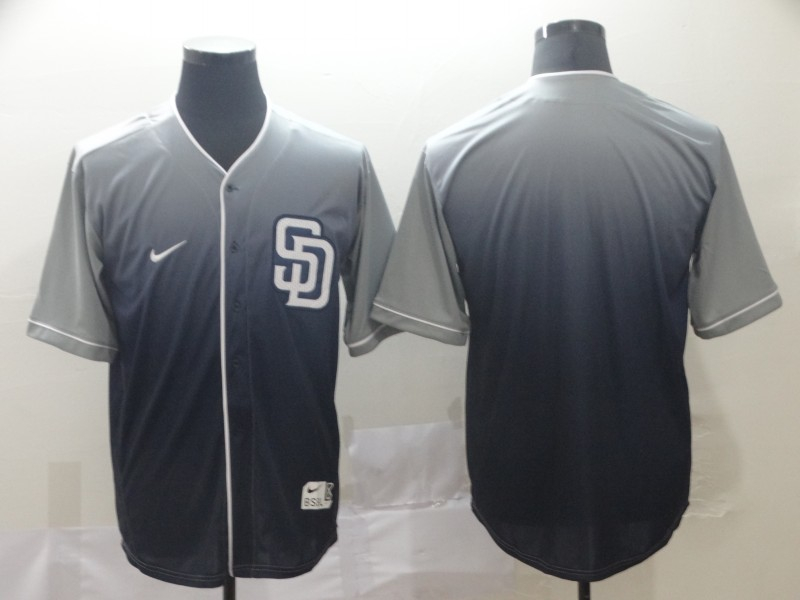 Padres Blank Gray Drift Fashion Jersey