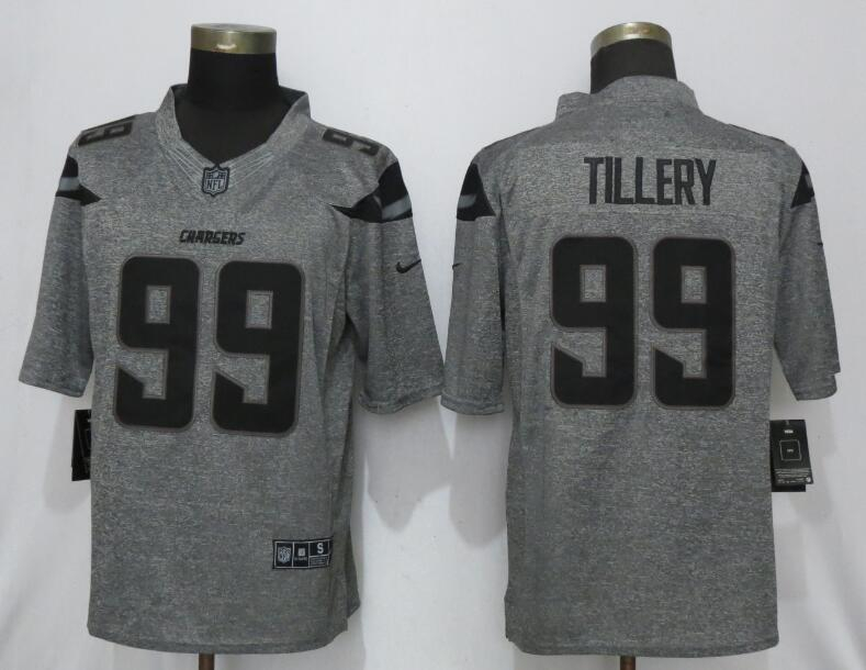 Nike Chargers 99 Jerry Tillery Gray Gridiron Gray Vapor Untouchable Limited Jersey