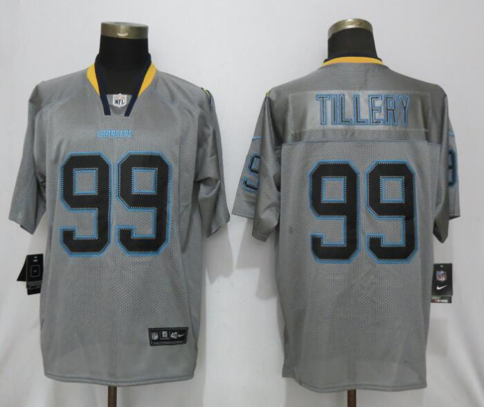 Nike Chargers 99 Jerry Tillery Gray Lights Out Elite Jersey