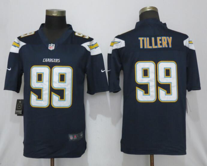 Nike Chargers 99 Jerry Tillery Navy 2019 NFL Draft First Round Pick Vapor Untouchable Limited Jersey