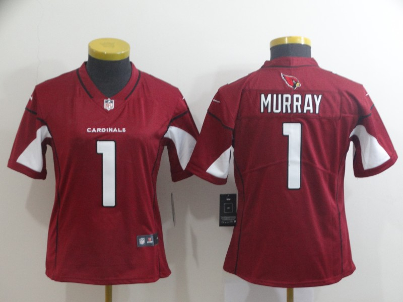 Nike Cardinals 1 Kyler Murray Red Women 2019 NFL Draft First Round Pick Vapor Untouchable Limited Jersey