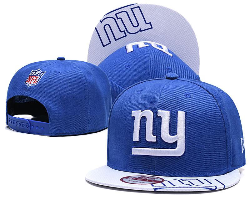 New York Giants Team Logo Royal Adjustable Hat TX