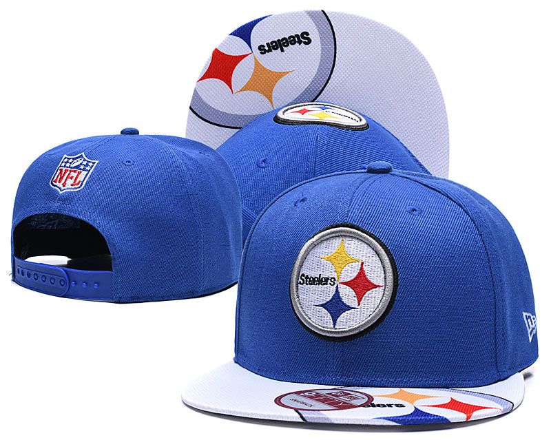 Steelers Team Logo Blue Adjustable Hat TX