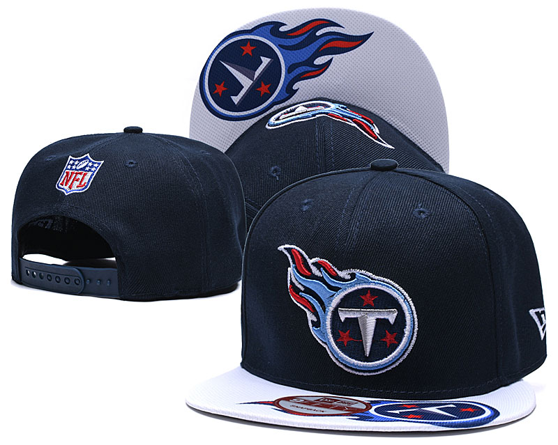 Titans Team Logo Navy White Adjustable Hat TX
