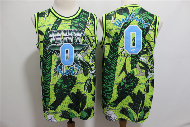 Jordan Why Not 0 Russell Westbrook Green All Star Basketball Jersey