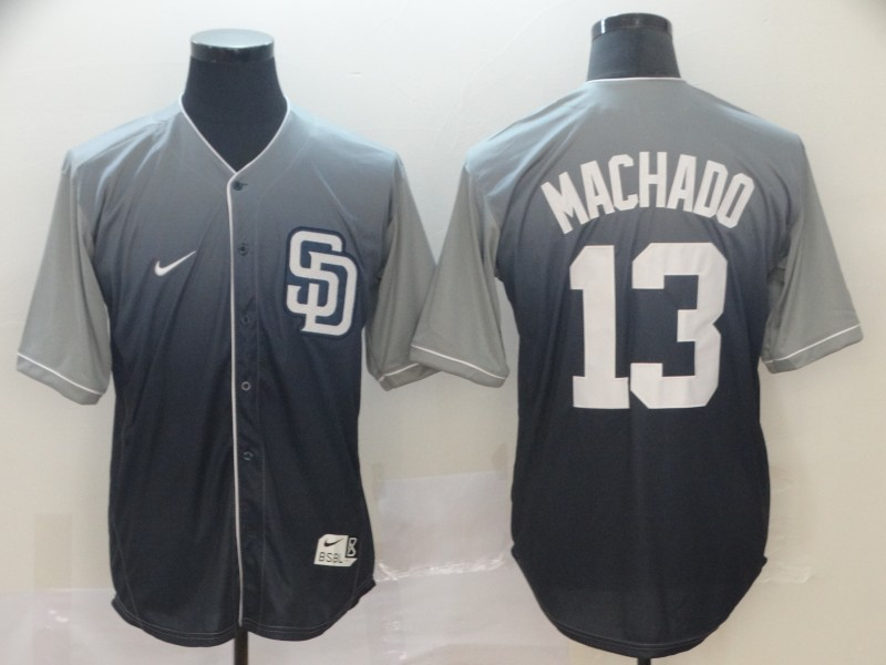 Padres 13 Manny Machado Gray Drift Fashion Jersey
