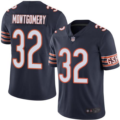 Nike Bears 32 David Montgomery Navy Vapor Untouchable Limited Jersey