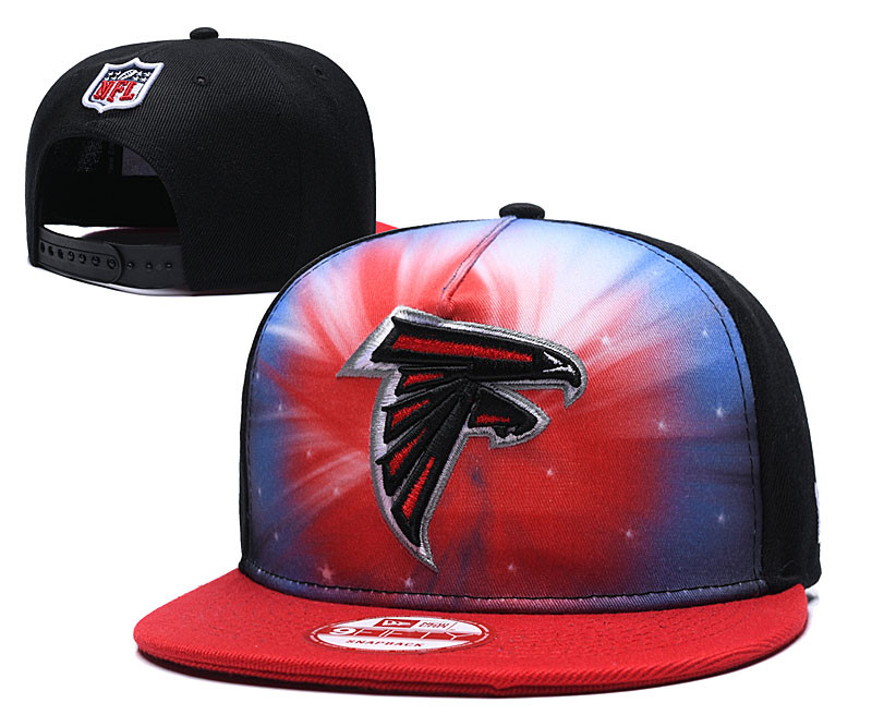 Falcons Fresh Logo Red Black Adjustable Hat GS
