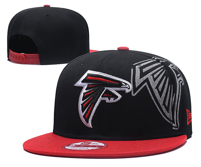 Falcons Team Logo Red Black Adjustable Hat GS
