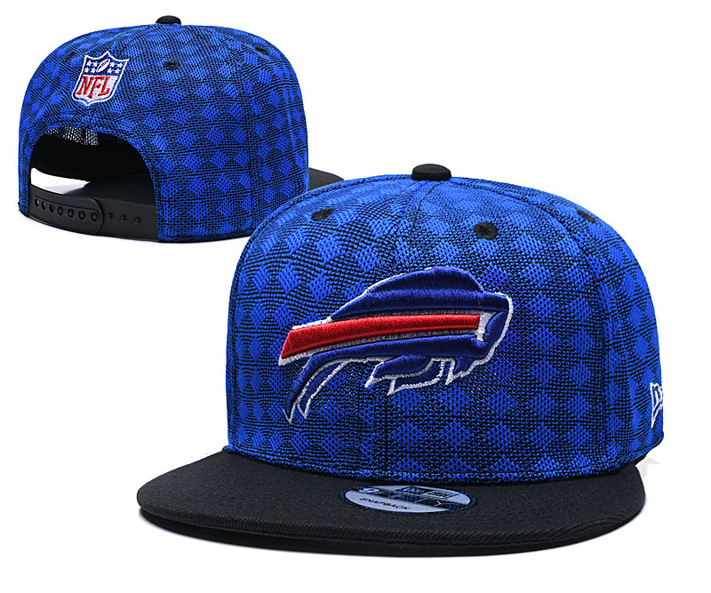Bills Team Logo Royal Black Adjustable Hat TX