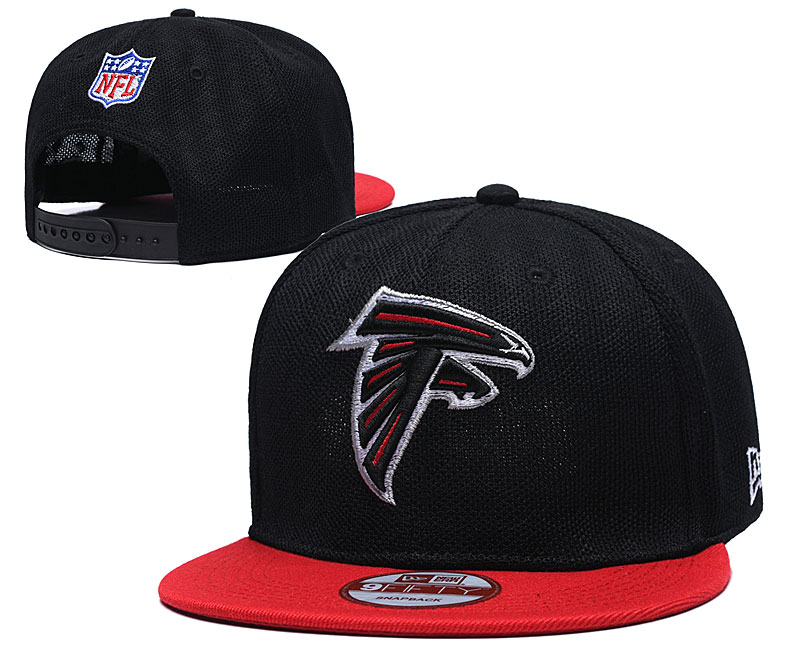 Falcons Team Logo Black Red Adjustable Hat TX