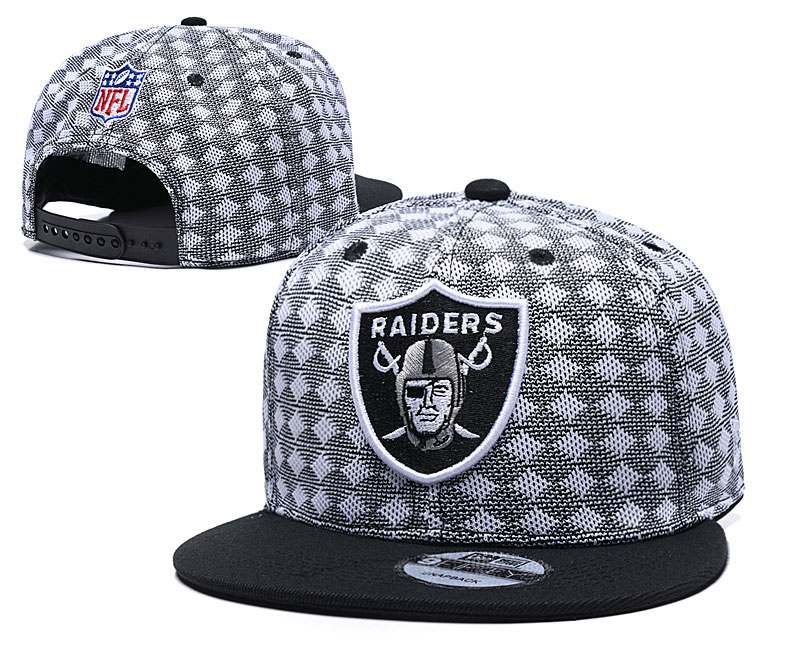 Raiders Team Logo Gray Black Adjustable Hat TX