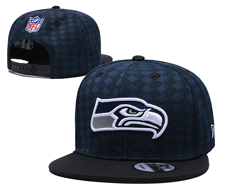 Seahawks Team Logo Navy Black Adjustable Hat TX