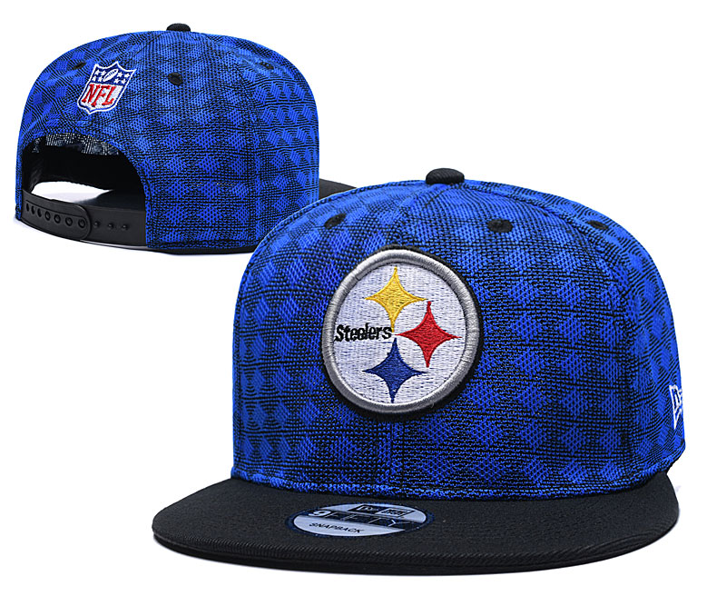 Steelers Team Logo Blue Black Adjustable Hat TX