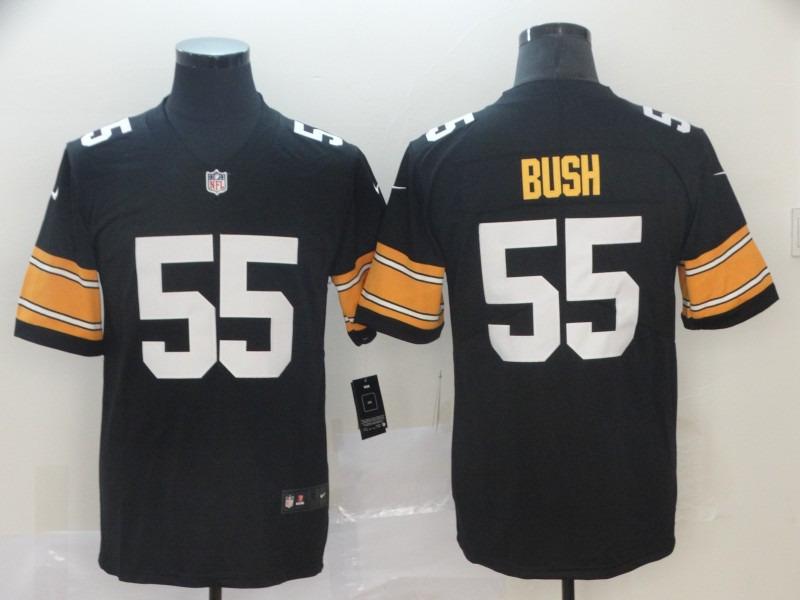 Nike Steelers 55 Devin Bush Black 2019 NFL Draft First Round Pick Vapor Untouchable Limited Jersey