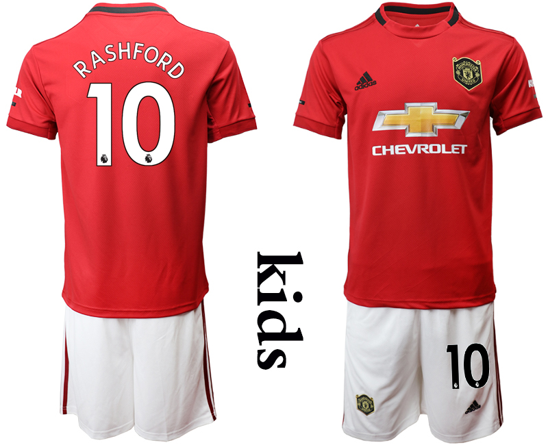 2019-20 Manchester United 10 RASHFORD Youth Home Soccer Jersey