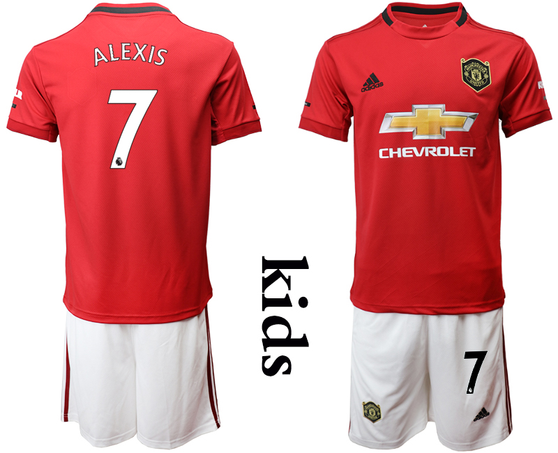 2019-20 Manchester United 7 ALEXIS Youth Home Soccer Jersey