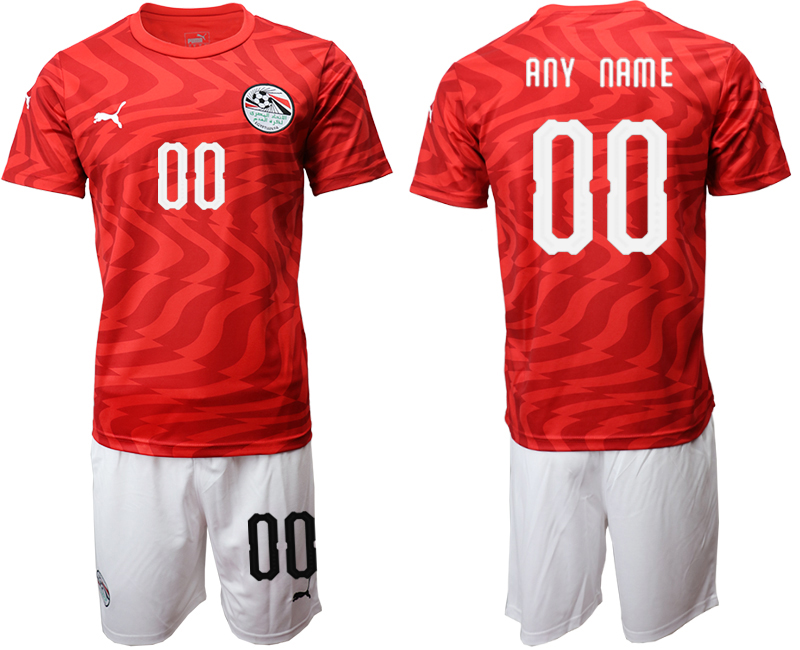 2019-20 Egypt Customized Home Soccer Jersey