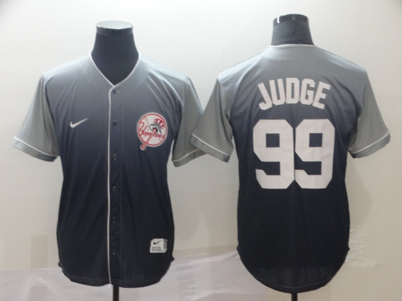 Yankees 99 Aaron Judge Gray Drift Fashion Jersey