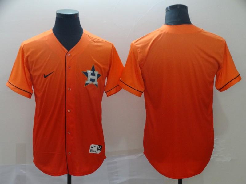 Astros Blank Orange Drift Fashion Jersey