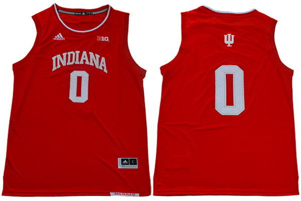 Indiana Hoosiers 0 Romeo Langford Red College Basketball Jersey