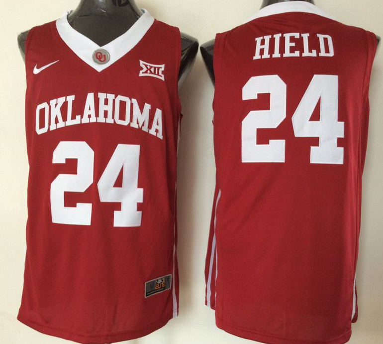 Oklahoma Sooners 24 Buddy Hield Red College Basketball Jersey