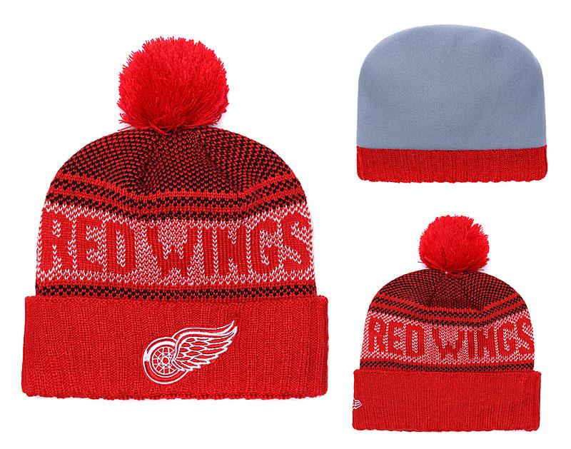 Red Wings Fresh Logo Red Pom Knit Hat YD