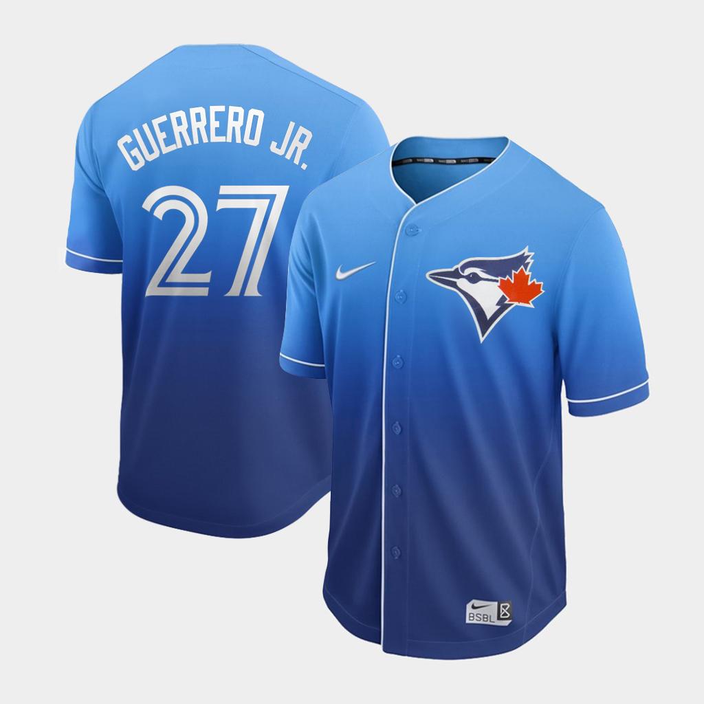Blue Jays 27 Vladimir Guerrero Jr. Royal Drift Fashion Jersey