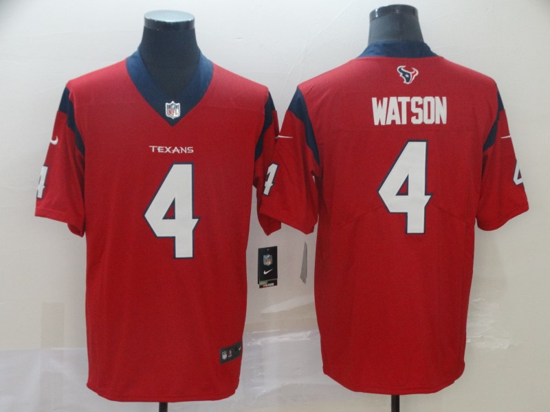 Nike Texans 4 Deshaun Watson Red New 2019 Vapor Untouchable Limited Jersey