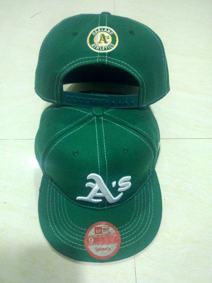 Athletics Team Logo Green Adjustable Hat LT