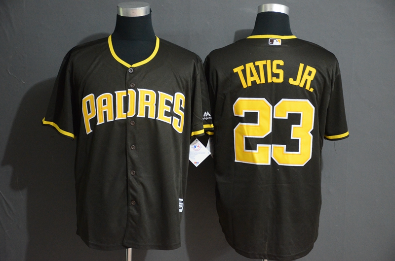 Padres 23 Fernando Tatis Jr. Black Cool Base Jersey
