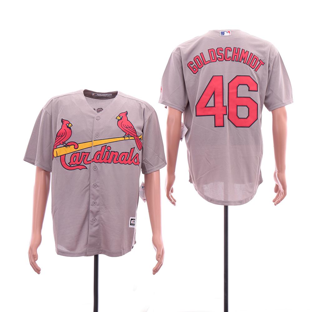 Cardinals 46 Paul Goldschmidt Gray Cool Base Jersey