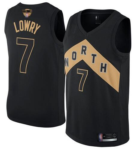 Raptors 7 Kyle Lowry Black 2019 NBA Finals City Edition Swingman Jersey