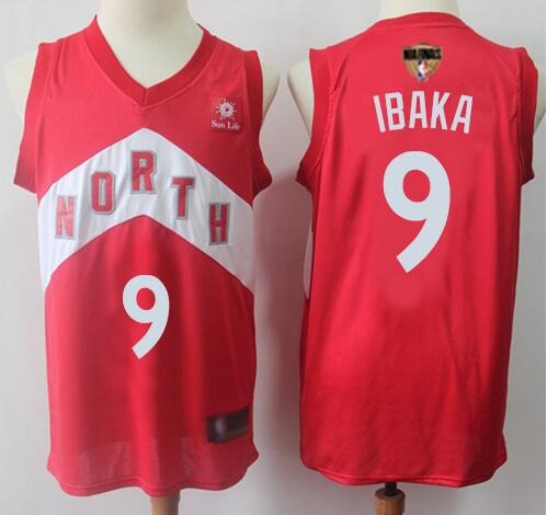 Raptors 9 Serge Ibaka Red 2019 NBA Finals Earned Edition Swingman Jersey
