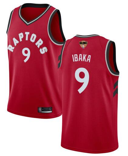 Raptors 9 Serge Ibaka Red 2019 NBA Finals Swingman Jersey