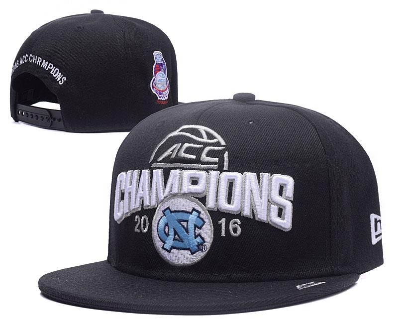 North Carolina Tar Heels Team Logo Black 2016 Champions Adjustable Hat GS