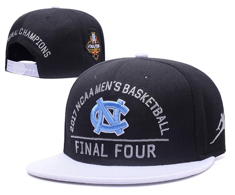 North Carolina Tar Heels Team Logo Black 2017 Final Four Adjustable Hat GS