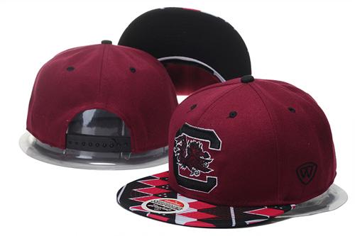 South Carolina Gamecocks Team Logo Red Adjustable Hat GS