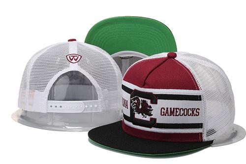 South Carolina Gamecocks Team Logo White Adjustable Hat GS