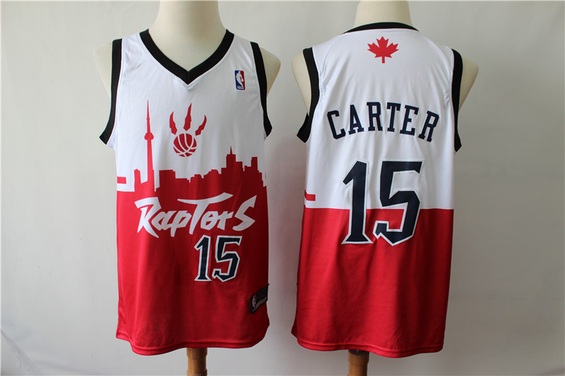 Raptors 15 Vince Carter White Red 2019 City DNA Swingman Jersey