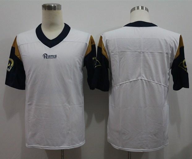 Nike Rams Blank White Vapor Untouchable Limited Jersey